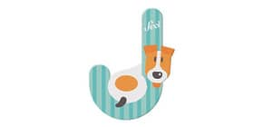 Tierbuchstaben 10cm Jack Russel TRUDI SEVI 83010/81610 Produktbild