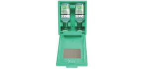 Augenspülstation Plum 2x500ml grün LEINA-WERKE 44023 in Wandbox Produktbild