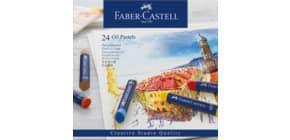 Ölpastellkreide 24 Stück sortiert FABER CASTELL 127024 Studio Produktbild