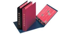 Münzalbum Kunstleder blau PAGNA 30220-06 24x25cm 520-524 Produktbild