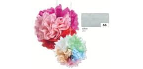 Blumenseide 50x70cm silber FOLIA 91066 20g 5Bg Produktbild