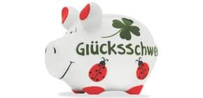 Spardose Schwein klein grün KCG 100784 Glücksschwein Produktbild
