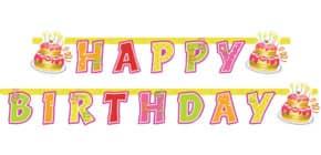 Partykette Happy Birthday RIETHMÜLLER 551705 180x15cm Produktbild