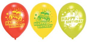 Luftballon Happy Birthday sort RIETHMÜLLER 450193 6St. Produktbild