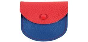 Rosenkranz Etui Leder rot-blau 62-187 7,5x6,5cm Produktbild