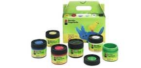 Fingerfarben-Set 6 Farben sort MARABU 0302 00 081 Produktbild