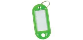 Schlüsselanhänger 10 Stück grün Q-CONNECT KF10871 Produktbild