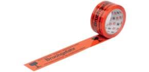Warndruckband 50mmx66m orange/schwarz WIHEDÜ 400.083 Bruchgefahr Produktbild