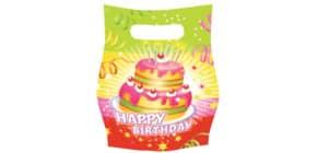Partytüte Happy Birthday RIETHMÜLLER 551704  6St. Produktbild