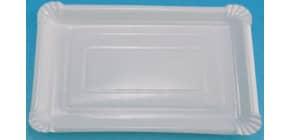 Pappteller P8B Pol 6/10 18x26 weiss HOSTI 16151010 7380608 10ST beschichtet Produktbild