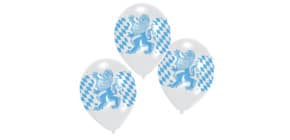 Luftballon 6ST blau/weiß RIETHMÜLLER 450288 Produktbild
