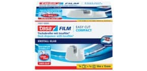 Tischabroller 19mm 33m weiß TESA 53837-00000-00 EasyCut Produktbild