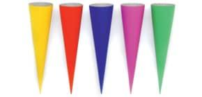 Bastelschultüte 70cm sortiert GOLDBUCH 97810 uni 9 Farben Produktbild