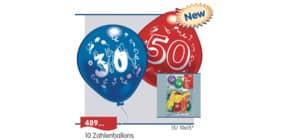 Luftballon Zahl 40 EVERTS 48962 10St. Produktbild