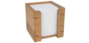 Zettelbox Bambus WEDO 61707 9x9cm Produktbild