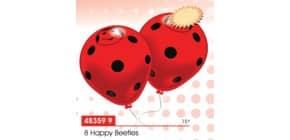 Luftballon Happy Beetles rot EVERTS 48359 8St. Produktbild