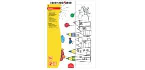 Puzzle zum Ausmalen EBERHARD FABER 579944 inkl.6Buntstiften Produktbild