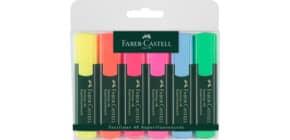 Textmarkeretui Textliner 48 6 Farb. sort FABER CASTELL 154806 nachfüllbar Produktbild