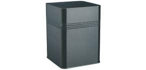 Papierkorb 18,5 Liter schwarz eckig Durable 3320-01 Metall Produktbild