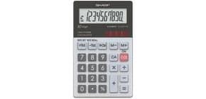 Taschenrechner 10-ste. glastop SHARP SH-ELW211G-GY dualpower Produktbild