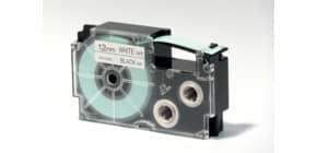 Etikettband schwarz/weiß CASIO Xr12we1 12mm-7.5m f.A.Print. Produktbild