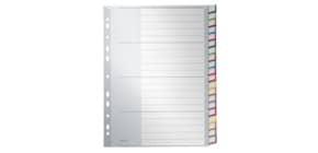 Register Plastik A4 blanco 20tlg. grau LEITZ 1278-00-00 Taben mit Farbrand Produktbild