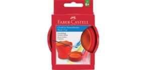Wasserbecher Click&Go rot FABER CASTELL 181517 Produktbild