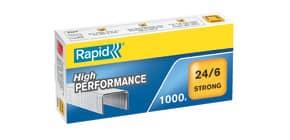Heftklammer 24/6 verzinkt RAPID 24855800 Strong 1000St Produktbild