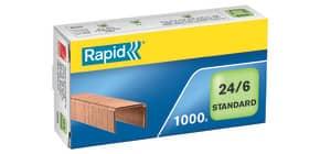 Heftklammer 24/6 CU verkupfert RAPID 24855700 1000St Produktbild