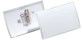 Namensschild 25ST 54x90mm transp. DURABLE 8214 19 Click Fold Produktbild