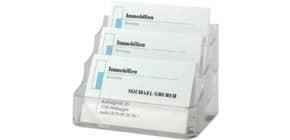 Visitenkartenspender transparent SIGEL VA130, 3 Fächer Produktbild