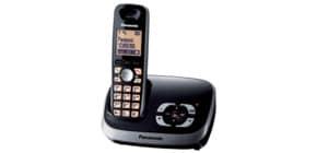 DECT Schnurlos Telefon schwarz PANASONIC KX-TG6521GB Produktbild