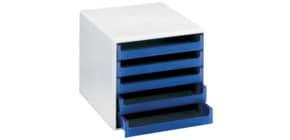 Schubladenbox 5 Laden hellgrau/blau M+M 30050911 Produktbild