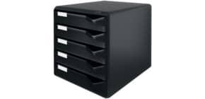 Postset schwarz/schwarz LEITZ 52930095 5Schubladen Produktbild