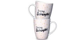 Kaffeebecher Lieblingsschwester LA VIDA  950314 250ml Für dich Produktbild