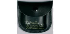 Rosenkranzetui Leder schwarz 62/222 Schrift Komm Produktbild