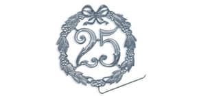 Jubiläumszahl D13cm 25 silber DEMMLER 1230250192 Draht Produktbild