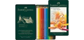 Farbstift Polychromos 12St sortiert FABER CASTELL 110012 Metalletui Produktbild