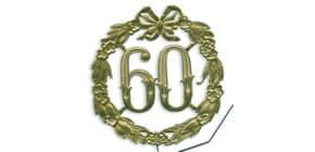 Jubiläumszahl D13cm 60 gold DEMMLER 1230600192 Draht Produktbild