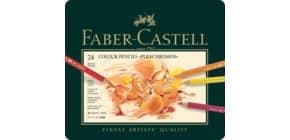 Farbstift Polychromos 24St sortiert FABER CASTELL 110024 Metalletui Produktbild