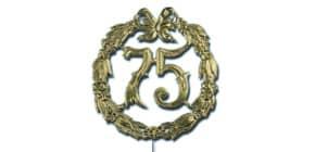 Jubiläumszahl D13cm 75 gold DEMMLER 1230750192 Draht Produktbild