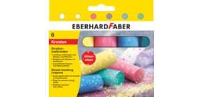 Straßenmalkreide Glitzer 6ST sort EBERHARD FABER 526504 Produktbild