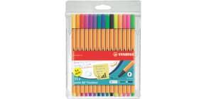 Feinliner point 88® EF 0,4mm neon STABILO 8815-1 10+5 neon Farben Produktbild