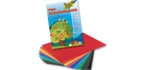 Tonpapier Mappe 10 Farben sort FOLIA 550 22x32cm 130g 10BL Produktbild
