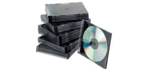 CD Hülle SlimCase 25ST sw/trans Q-CONNECT KF02210 Produktbild