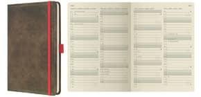 Buchkalender 2020 A5 braun SIGEL C2055 CONCEPTUM Produktbild