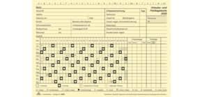 Urlaubs- und Fehltagekarte 10ST RNK 2900/20-10 2020 grafisch Produktbild