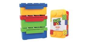 Brotbox Block Box sort. TRENDHAUS 949721 9,4x15x6,9cm Produktbild