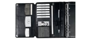 Ringbuchkalender A5 Leder schwarz BIND T 500-1 ohne Kalendarium MV Produktbild