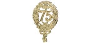 Jubiläumszahl 75 gold DEKORATIV 1225-75 8x12cm Produktbild